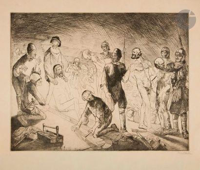 Un lot par Appian, Dunoyer de Segonzac, Laboureur, Meryon, Naudin, Redon. Eau-forte;...
