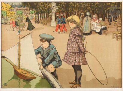 Louis Abel-Truchet (1857-1918) Enfants au...
