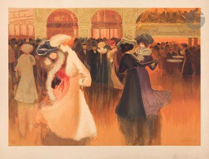 Louis Abel-Truchet (1857-1918) Les Danseuses au Moulin Rouge. 1900. Lithography....
