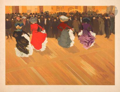 Louis Abel-Truchet (1857-1918) Le Quadrille. 1890. Lithography. 717 x 517. Color...