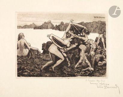 Valère Bernard (1860-1936) Les Harpies. 1895....