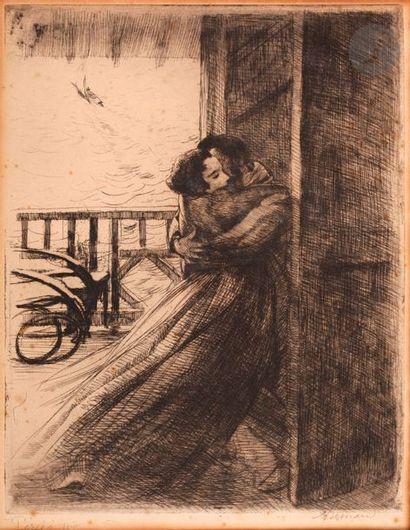 Albert Besnard (1849-1934) L'Amour. (Pl....
