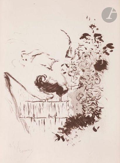 Pierre Bonnard (1867-1947) Conversation. 1893. Lithographie. 247 x 291. Roger-Marx,...