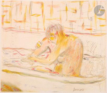 Pierre Bonnard (1867-1947) Femme assise dans sa baignoire. 1942. Lithographie. 212...