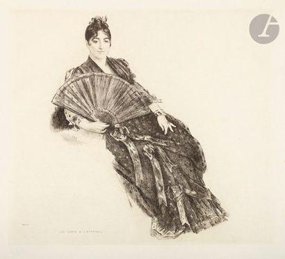 *Félix Bracquemond (1833-1914) La Dame à...