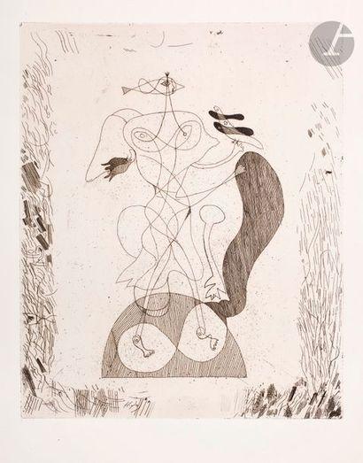 Georges Braque (1882-1963) Theogony, pl. 16. 1932. Etching. 298 x 368. Vallier 20...