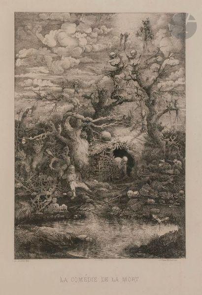 Rodolphe Bresdin (1822-1885) La Comédie de...