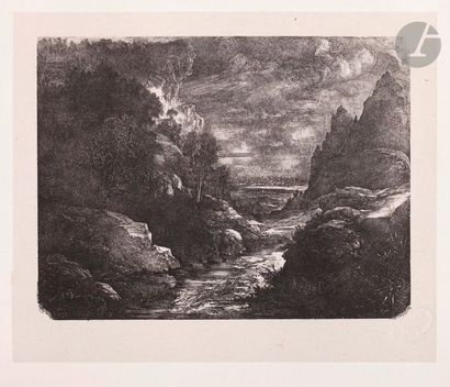 Rodolphe Bresdin (1822-1885) Le Ruisseau...