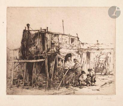 Auguste Brouet (1872-1941) Baraques de la...