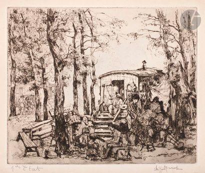 Auguste Brouet (1872-1941) Vanniers à Sartrouville....