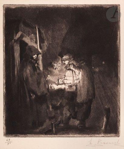 Auguste Brouet (1872-1941) La Ronde de nuit....