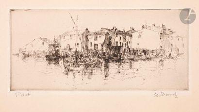 Auguste Brouet (1872-1941) Martigues. Vers...
