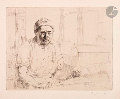 Auguste Brouet (1872-1941) Portrait de Vernant...