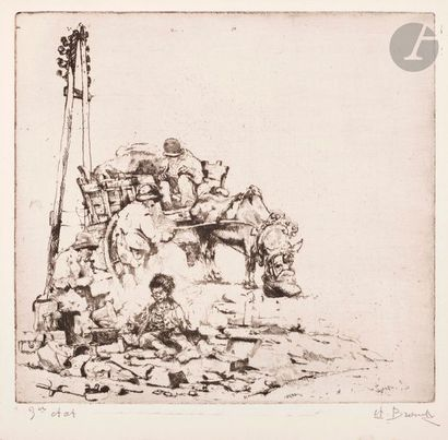 Auguste Brouet (1872-1941) Le Picotin (2e...