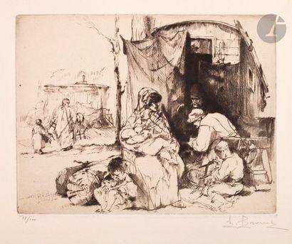 Auguste Brouet (1872-1941) Les Racommodeurs...