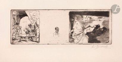 Auguste Brouet (1872-1941) Trois sujets (Le...