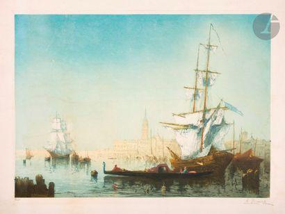 Auguste Brouet (1872-1941) Venise, la lagune...