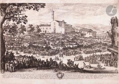 Jacques Callot (1592-1635) (d'après) La Foire d'Impruneta (1re pl.). Copie en contre-partie...