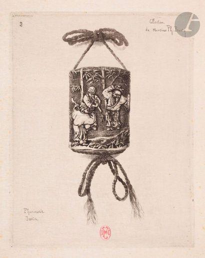 Félix Buhot (1847-1898) Pharmacie ivoire....