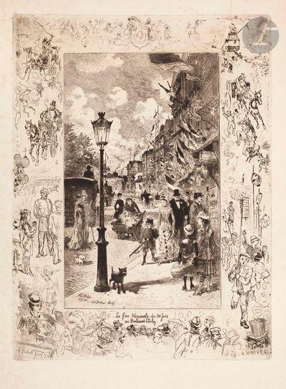Félix Buhot (1847-1898) La Fête Nationale...
