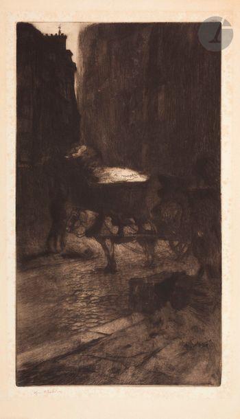 Edgar Chahine (1874-1947) Les Boueux. 1900....