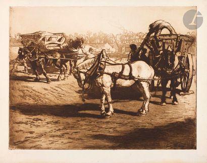 Edgar Chahine (1874-1947) Le Cheval blanc....