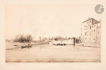 Edgar Chahine (1874-1947) Venise, Riva San...