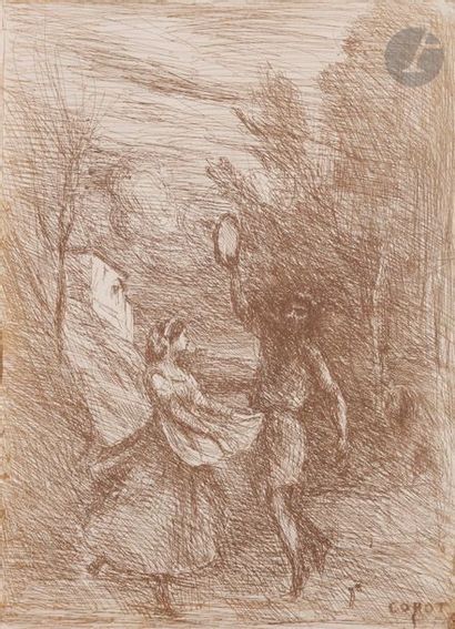 Jean-Baptiste-CamilleCorot (1796-1875) Saltarelle....