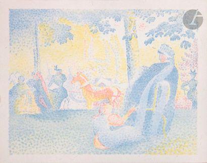 Henri-Edmond Cross (1856-1910) In den Champs-Elysées...