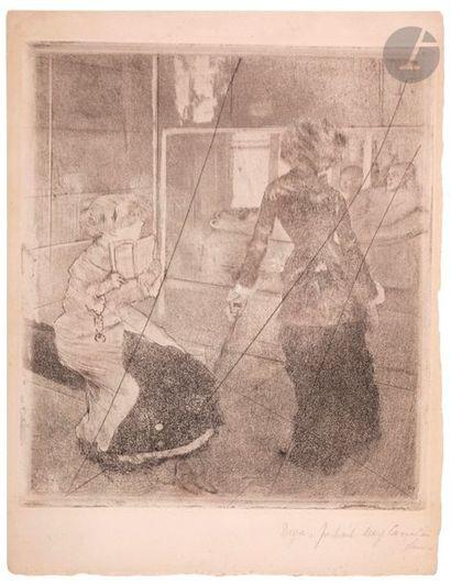 Edgar Degas (1834-1917) Mary Cassatt au Louvre,...