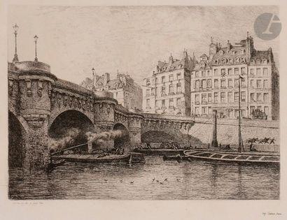 Alfred Delauney (1830-1894) Paris Pittoresque....
