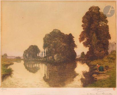 Eugène Delâtre (1864-1938) Lavandière à la...