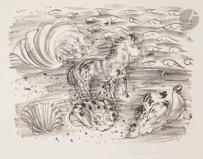 Raoul Dufy (1877-1953) Petit cheval marin,...