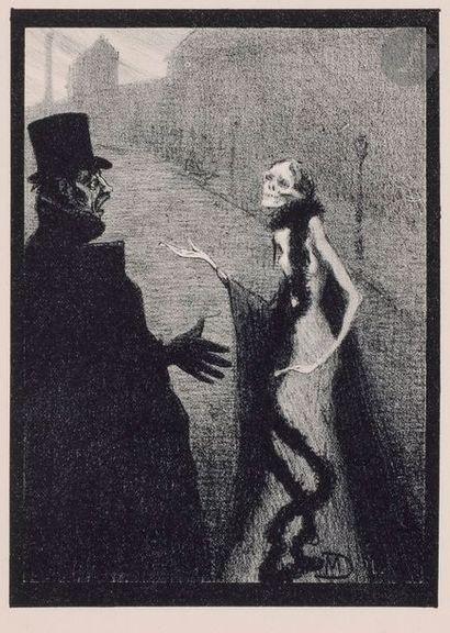 Maurice Dumont (1869-1899) La Dame inexorable. 1894. Lithographie. Chaque env. [160...