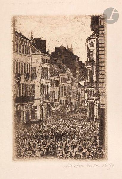 James Ensor (1860-1949) La Musique rue de...