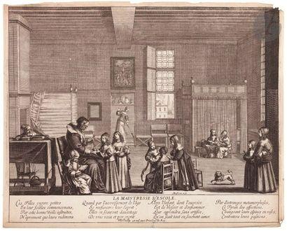 Abraham Bosse (1604-1676) La Maîtresse d'école....