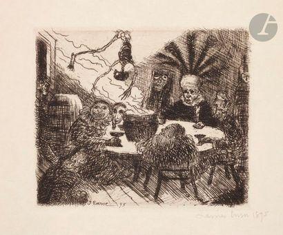James Ensor (1860-1949) Le Roi Peste. 1895....