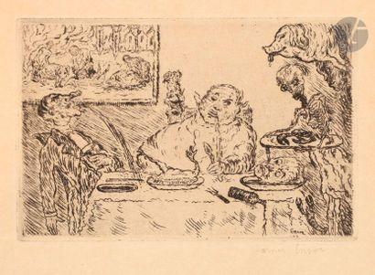 James Ensor (1860-1949) La Gourmandise. 1904....