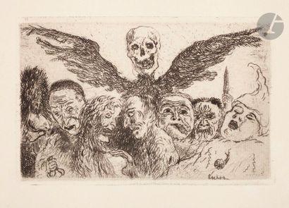 James Ensor (1860-1949) Les Péchés capitaux...
