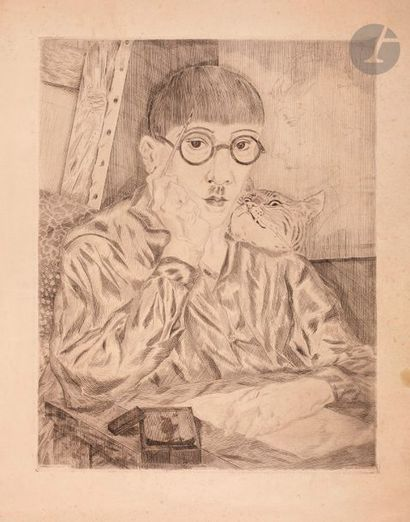 Léonard-Tsuguharu Foujita (1886-1868) Autoportrait...