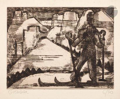 Marcel Gromaire (1892-1971) Le Skieur. 1930....