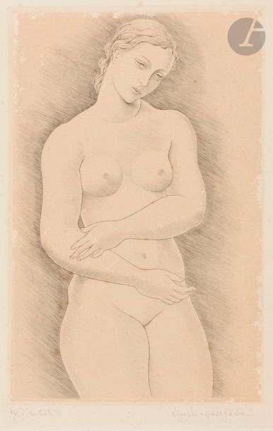 Kiyoshi Hasegawa (1891-1980) Nu. 1936. Pointe...