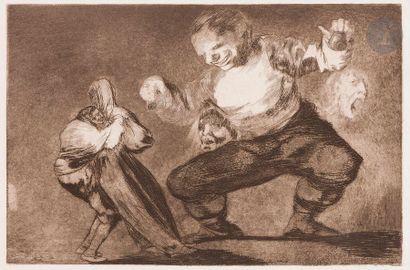 Francisco de Goya y Lucientes (1746-1828 )Los Proverbios, pl. 1, 2, 4, 4, 6, 10,...