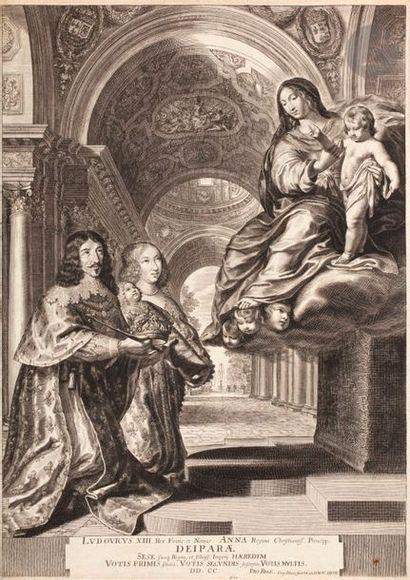Grégoire Huret (1606-1670) Louis XIII et son épouse Anne d'Autriche mettant le nouveau...