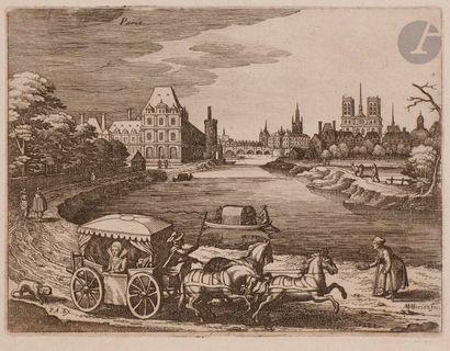 Matthäus I Merian (1593-1650) Vues de villes et paysages (Paris, Nancy, Châlon,...