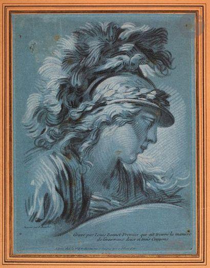 Louis-Marin Bonnet (1743-1793) Tête de Minerve....