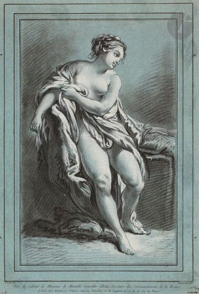 Louis-Marin Bonnet (1743-1793) Une baigneuse....