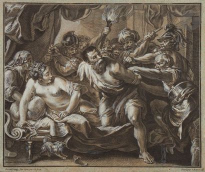Louis-Marin Bonnet (1743-1793) Samson surpris...
