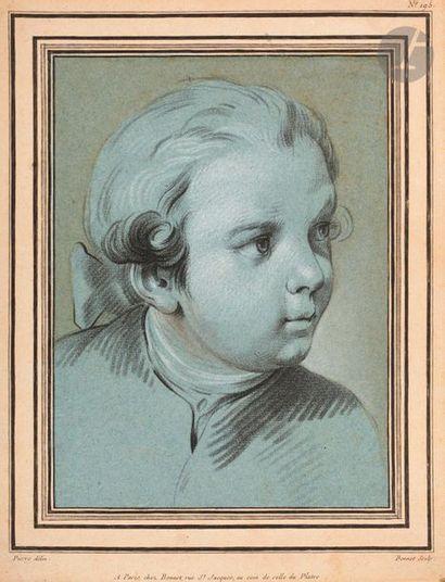 Louis-Marin Bonnet (1743-1793) Tête de jeune...