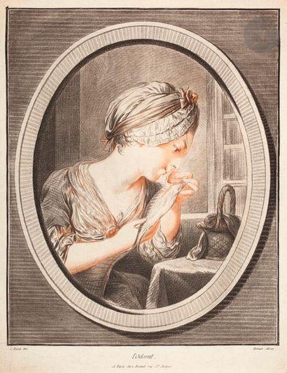 Louis-Marin Bonnet (1743-1793) La Vue; L'Ouïe;...
